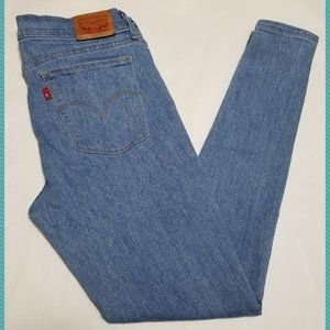 Levi's 710 Light Wash Mid Rise Super Skinny Jeans